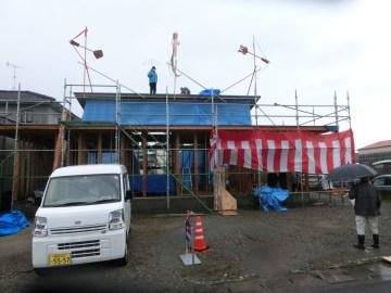 Tさま邸(樺山の家)R3年2月13日 上棟祭を行いました。