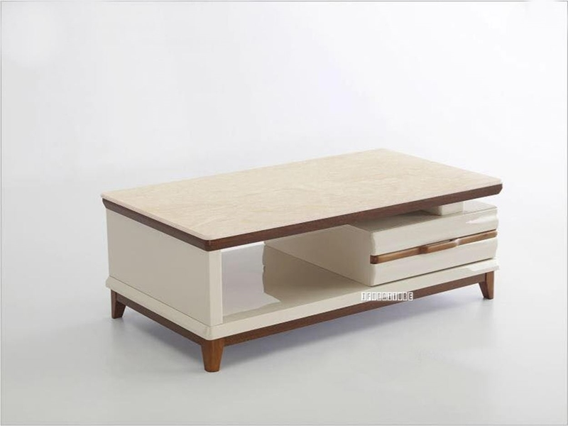 artisan 1drw coffee table marble top