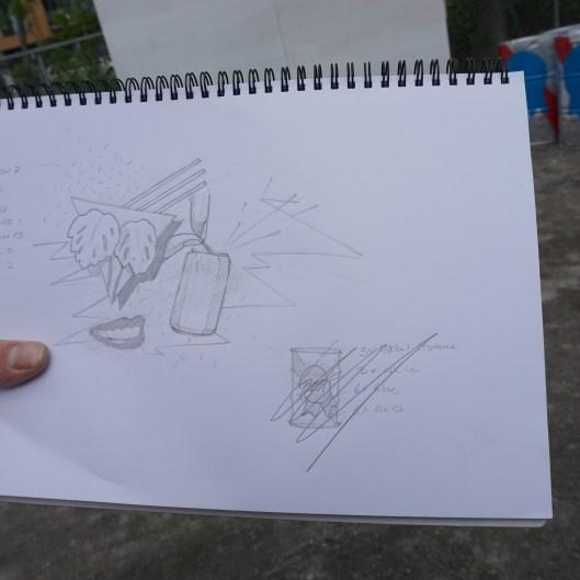 Le sketch de départ...