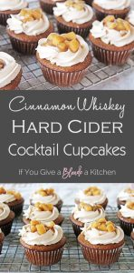 fireball cupcakes pinterest image with recipe title