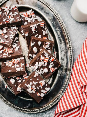 Peppermint Fudge with Sweetened Condensed Milk