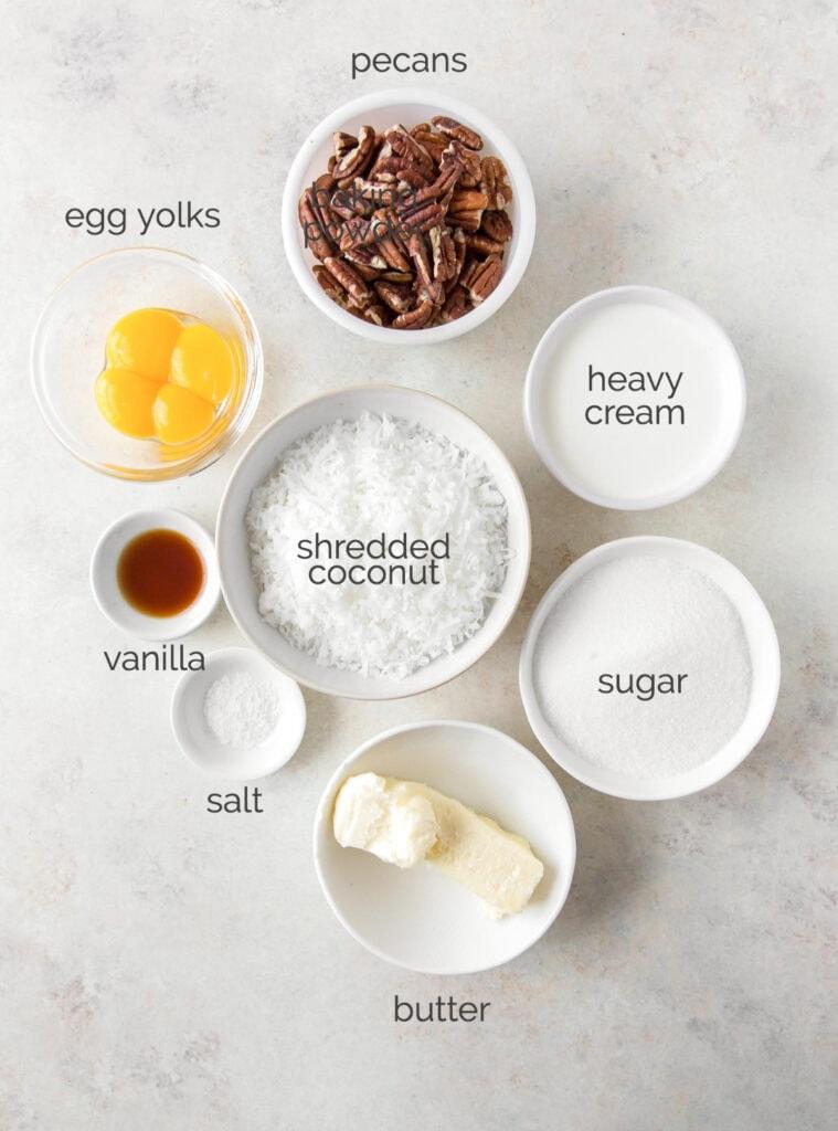 german chocolate cake coconut pecan filling ingredients