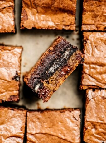 Cookie Dough Oreo Brownies