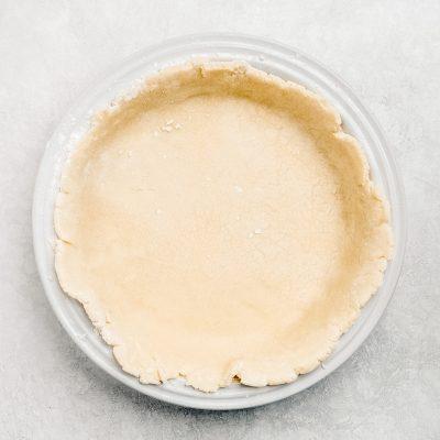 homemade pie crust in ceramic pie dish