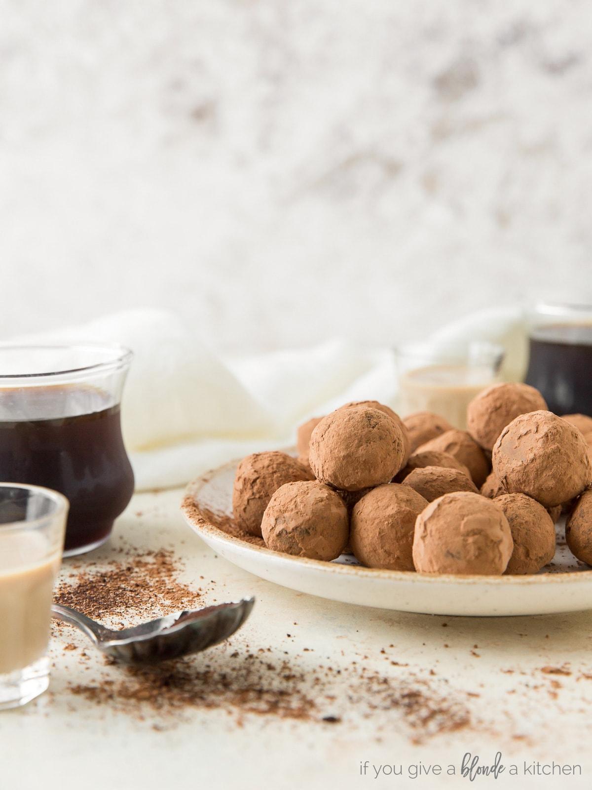 Irish Cream Espresso Truffles for St. Patrick's Day | Recipe by @haleydwilliams