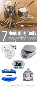 Seven measuring tools every baker needs in their kitchen. Do you have them all? | @haleydwilliams