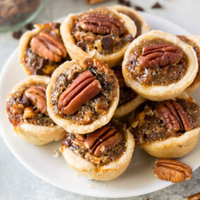 plate of mini derby pies