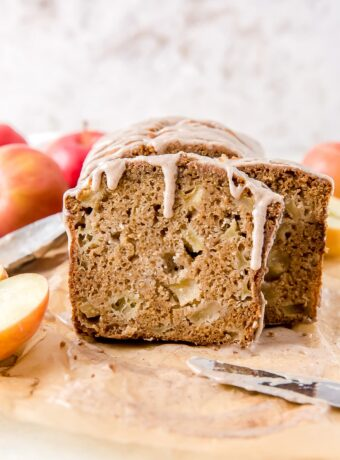 Apple Cider Bread with Cinnamon Glaze