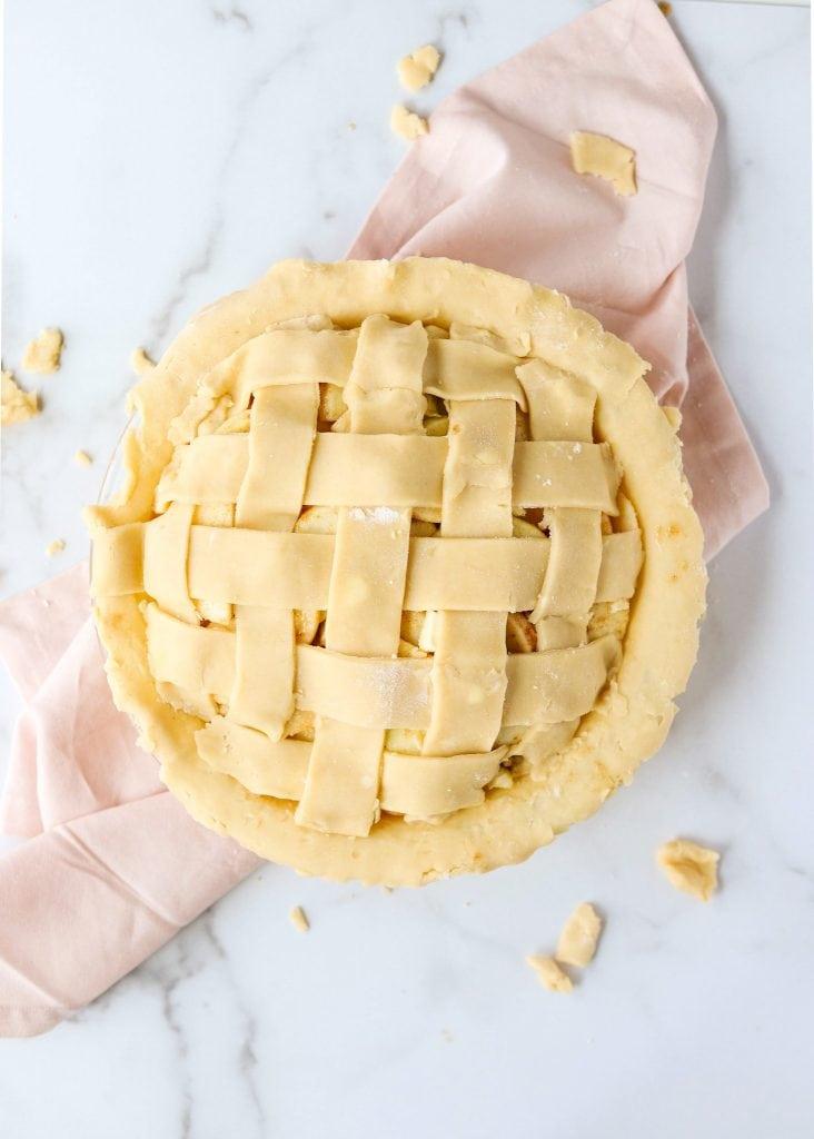 lattice pie crust dough