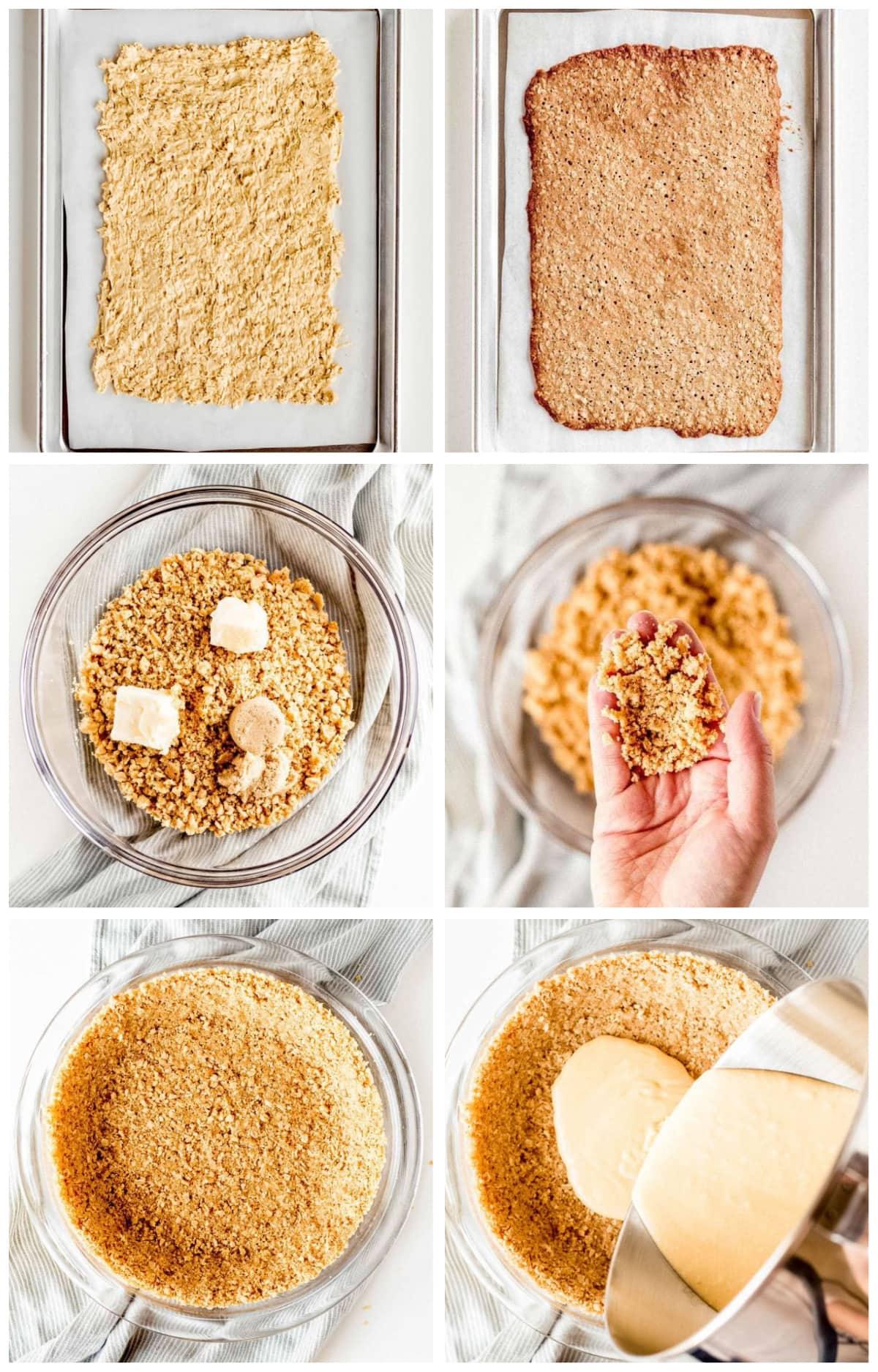 photo collage demonstrating how to make momofuku crack pie