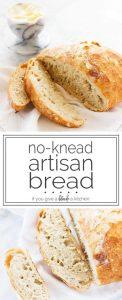 Easy recipe for no-knead artisan bread | www.ifyougiveablondeakitchen.com