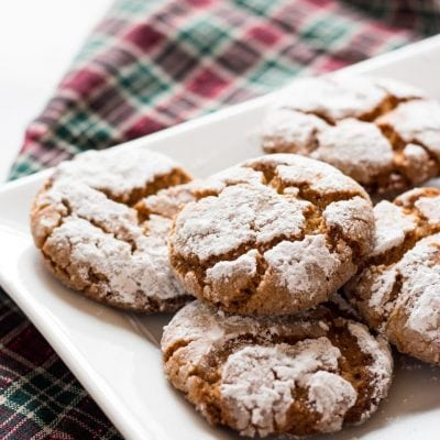 Peanut Butter Crinkle Cookies | www.ifyougiveablondeakitchen.com