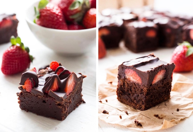chocolate covered strawberry brownies melted chocolate vs chocolate ganache