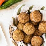 Carrot zucchini muffins are sprinkled with cinnamon sugar and delicious in the summer. | www.ifyougiveablondeakitchen.com
