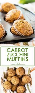 Carrot zucchini muffins are so yummy sprinkled with cinnamon sugar! This recipe is perfect for extra zucchini in the summer. | www.ifyougiveablondeakitchen.com