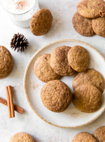 Pumpkin Snickerdoodles (soft and chewy!)