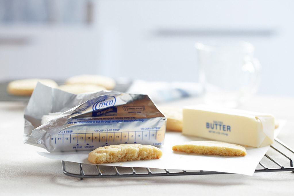 Crisco vs. Butter Stamp Cookies