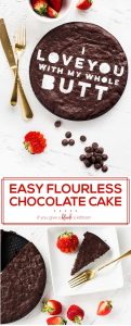 Easy flourless chocolate cake recipe I love you with my whole butt pinterest