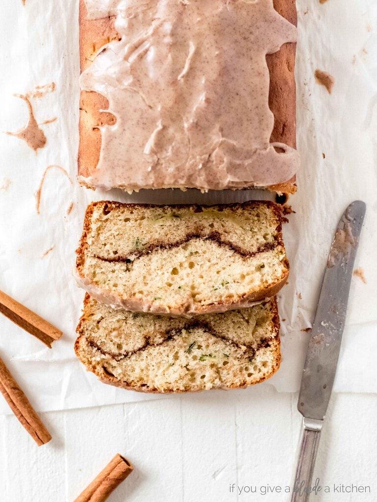 Cinnamon Swirl Zucchini Cake