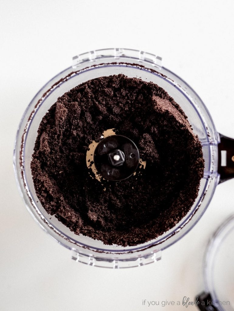 crushed oreos in food processor step
