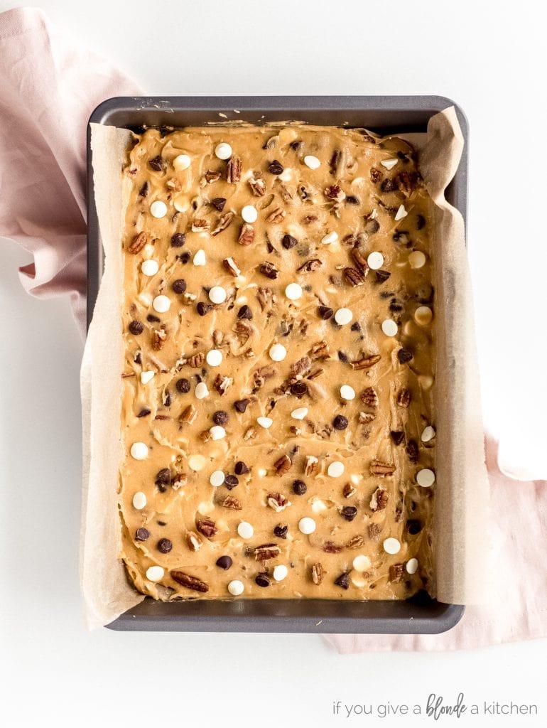 blondies not baked in 13x9 pan