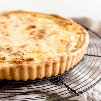 tart shell crust ridges of quiche