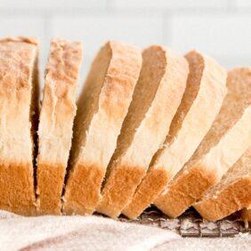 sandwich bread loaf slices on profile