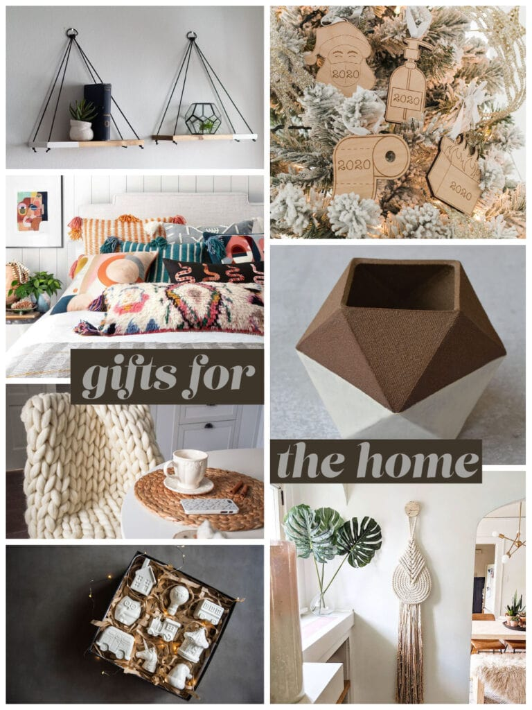 photo collage of gifts for the home