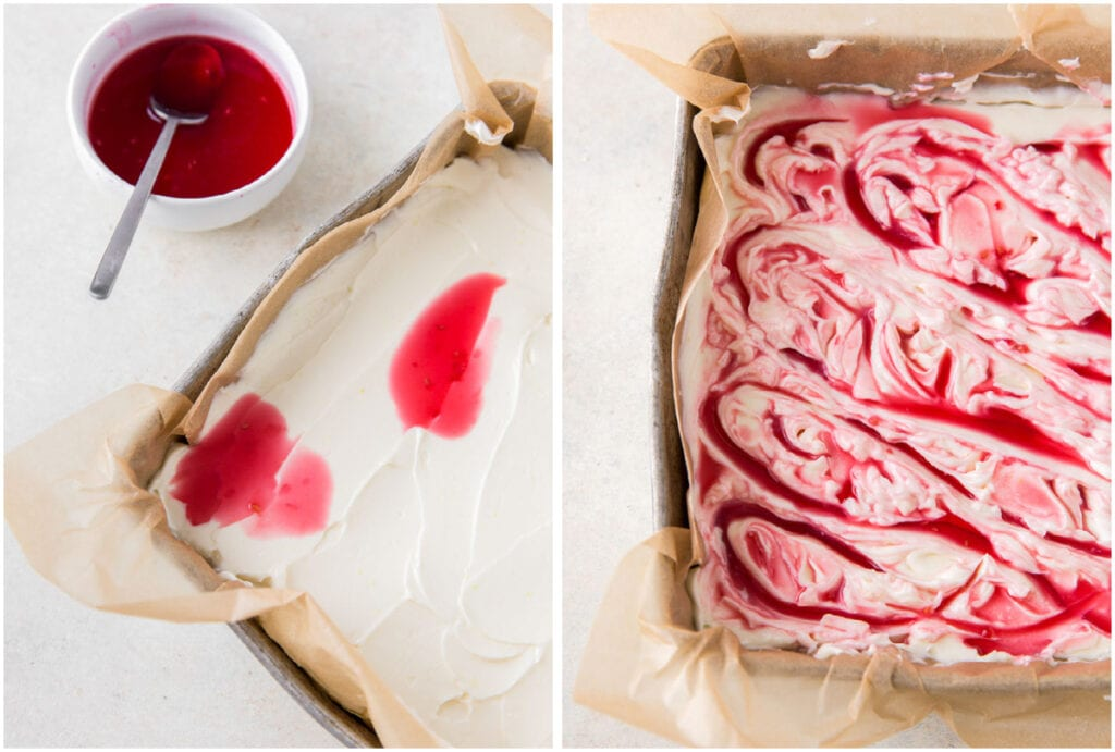 how to make raspberry puree for raspberry cheesecake bars