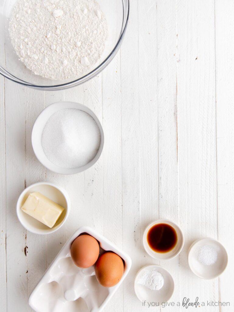 biscotti ingredients in bowls