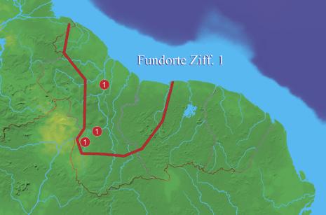 Wahrscheinliches Verbreitungsgebiet von Nannostomus erythrurus