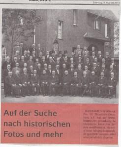 """Aufruf zur Einsendung historischer Fotos aus Humboldt/Gremberg im """"Kölner Wochenende"""" vom 08. August 2015"""
