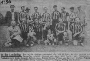 """Aufstieg der """"tüchtigen Mannschaft"""" des VFB 05 im Jahre 1956 in die Landesliga"""