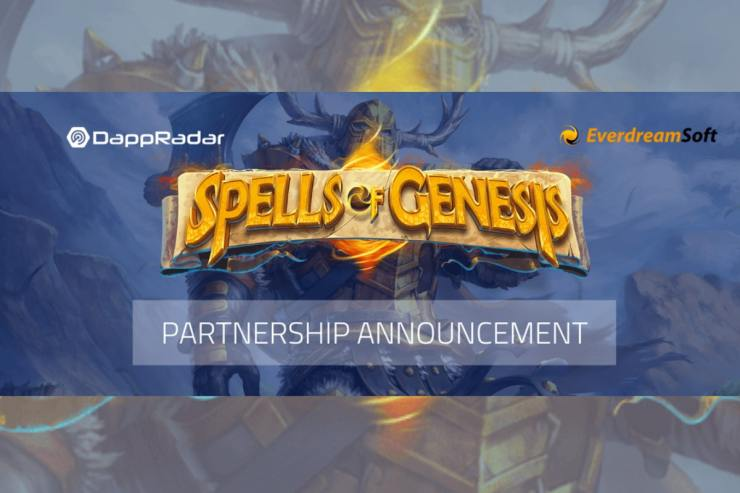 DappRadar partners with EverdreamSoft to launch first blockchain game 'Spells of Genesis' on Ethereum