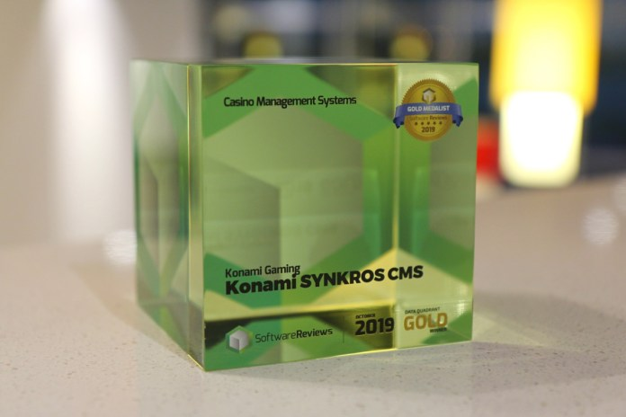 Konami's SYNKROS Awarded First Place in the Casino Management System Data Quadrant Awards