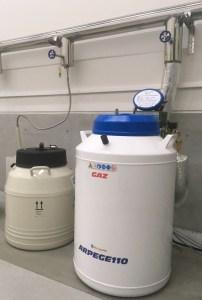 液体窒素自動供給システムを採用した極低温保管タンク