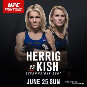 OKC UFC Justine kish Felice Herrig Justine Kish Felice Herrig UFC OKC