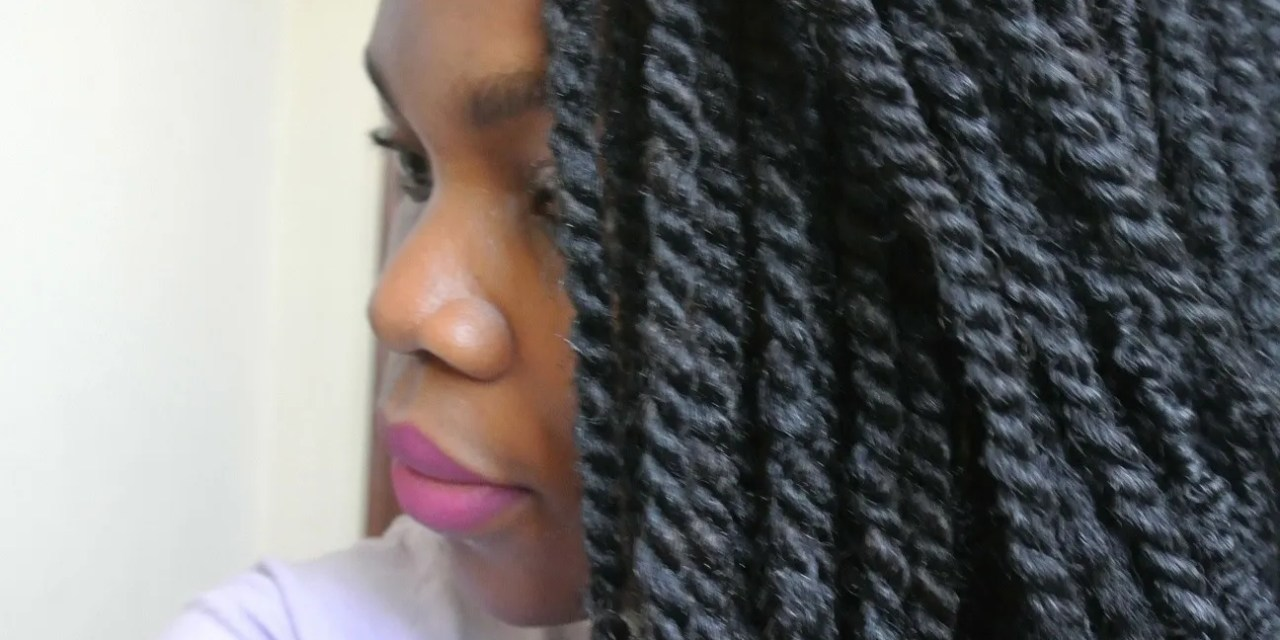 How to manage hair in Kinky Twists / Box Braids – Quick  and Easy Method
