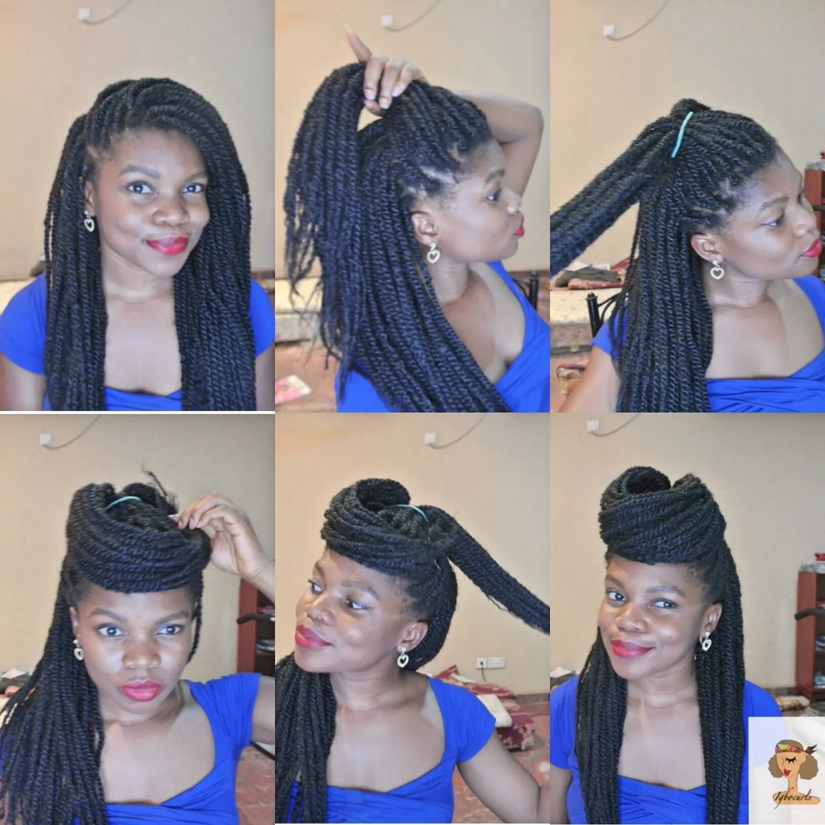 4 Stylish ways to wear your Braids or Twists (Protective Style)
