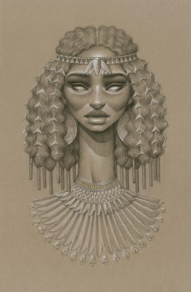 nefertem-671x1024 Natural Hair Art - Sara Golish