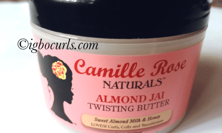 Product Review- Camille Rose Naturals Almond Jai Twisting Butter