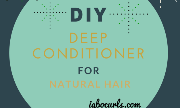 DIY Moisturizing Deep Conditioner for Natural Hair