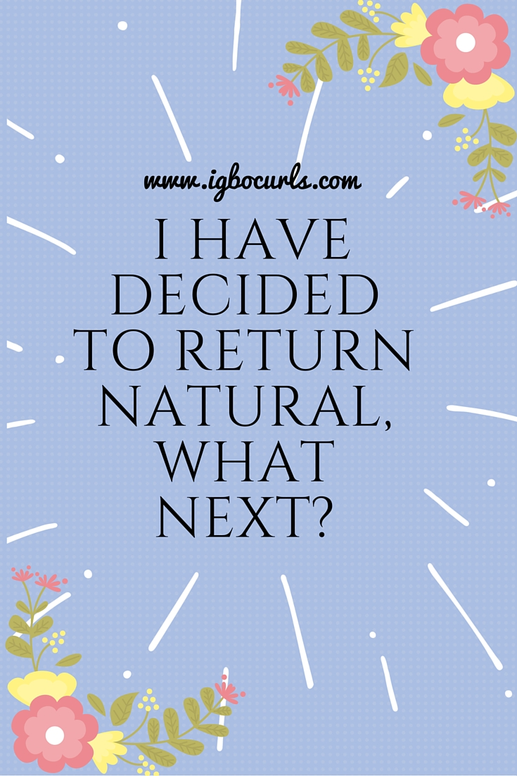 Natural Hair 101- I Have Decided To Return Natural, What Next?