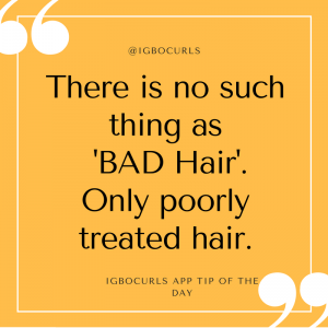 There-is-no-such-thing-as-BAD-Hair.-Only-poorly-treated-hair.-igbocurls.com_-300x300 Igbocurls App Tip of the Day