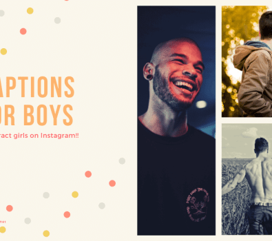 Captions for Boys