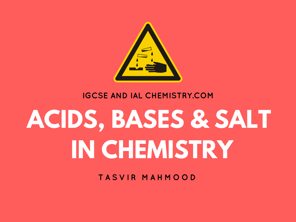 Acid Base And Salt In Chemistry Reaction Of Acid And