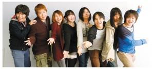 左から正慶君、山﨑君、嶋田さん、笹本さん、藤波君、粟野君、佐藤君、並木君