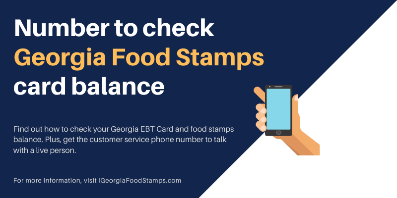 Number to check Georgia Food Stamps card balance