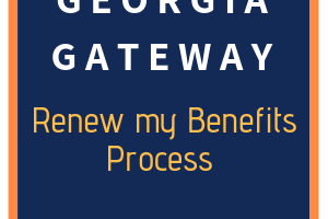 Georgia Gateway Renew my Benefits