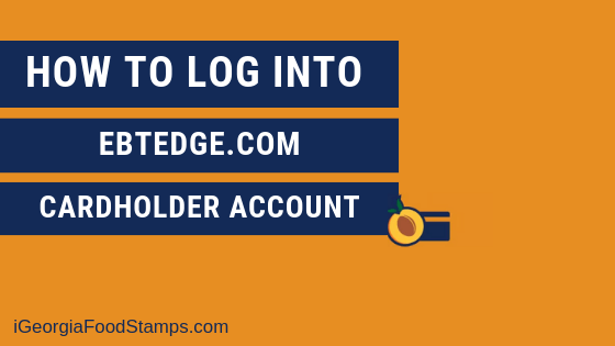 """ebtEDGE.com Cardholder Login and Pin Reset"""